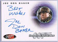 JAMES BOND 007; JOE DON BAKER AS JACK WADE AUTOGRAPH CARD A99