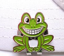 Smiling Frog Golf Ball Marker - W/Bonus Magnetic Hat Clip