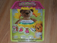 Lil Luvables Fluffy Factory Bear Wear Costume Flower Outfit Yellow