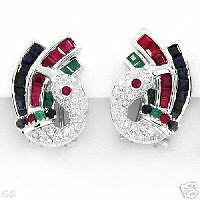 Irresistible Earrings With 2.90ctw Precious Stones