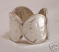 925 Sterling Silver MERCURY DIME RING, All Sizes, Unisex, 9.25 Metal, Metal P