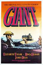 """GIANT XL CANVAS PRINT Vintage movie poster 24""""X 36"""" James Dean Elizabeth Taylor"""