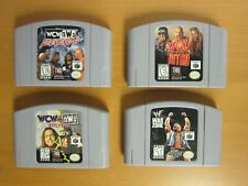 Lot of 4 N64 / Nintendo 64 wrestling games.