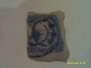 CSA 10c Jefferson Davis Blue used SG12?