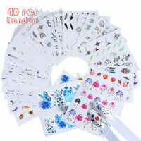 40 Sheets Nail Art Transfer Stickers 3D Flower Various Manicure Tips Decal Decor