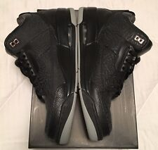 Nike AIR JORDAN 3 III Retro Flip Black Cement size 10 Black Cat Nice Super Rare!