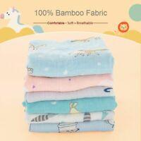 Muslin Swaddle Unicorn Baby Blankets Bamboo Super Soft Fluffy Bath For Kids Wrap