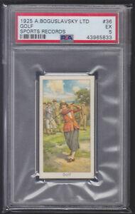 Boguslavsky - Sports Records 1925 - Golf  - PSA 5 EX