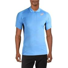 Asics Mens Blue Tennis Training Workout Polo Athletic 2Xl Bhfo 1769