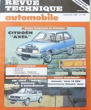 NEUF DE STOCK CITROEN AXEL Revue technique RTA 459 1985 VW GOLF JETTA SCIROCCO