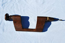 Vintage Antique Tool - Primitive Wood Brace / Bitstock with Drill Bit