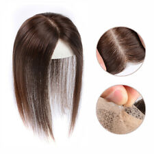 Silk Top Mono Natural Hairpiece Clip In 100% Real Human Hair Top Topper Toupee