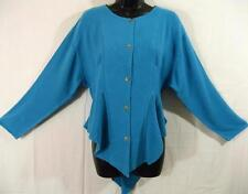 TIENDA HO~AQUA~MOROCCAN COTTON~NAJMA~Coattail~QUILTED~FITTED~Gored~OS~M L 12?