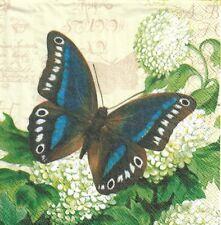 2 Serviettes en papier Papillon été Decoupage Paper Napkins Butterfly Summer