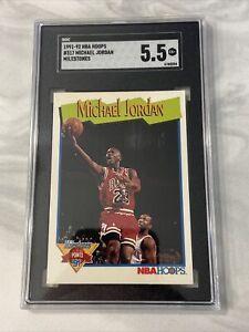 1991-92 NBA Hoops Michael Jordan MILESTONES #317 SGC 5.5 NBA CHICAGO BULLS