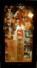 Cricket Australia Adam 'Gilly' Gilchrist 381 Bat Framed, Signed