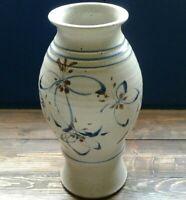 "Padgett Studio Pottery Vase 10"" Beautiful folk art design"