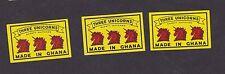 ancienne  étiquette  allumettes Ghana BN16992 Trois Licornes