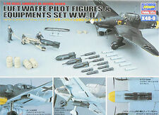 Hasegawa 36009 X48-9 1/48 Model Kit WWII Luftwaffe Pilot Figures & Equipment Set