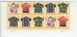 4592-4596a Aloha Shirts 32c Bottom Plate Block of 10 stamps Mint Never Hinged
