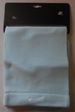 NIKE Adult Unisex Fleece Scarf Color Blue Lagoon/White Size OSFM New