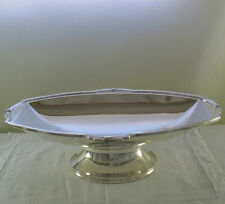 Silver Centerpiece on Oval Foot with Jubilee Applied Border, a Patented Mount