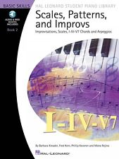 Scales Patterns and Improvs Book 2 Improvisations Scales I-IV-V7 Piano 000296737