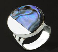 Perlmut Damenring Ring 925 Sterling Silber Größe 54 (17,2 mm)  sterling silver