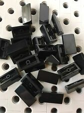 Lego Black Slope Roof Tile 1 X 2 X 2/3 Abs New Lot Of 24