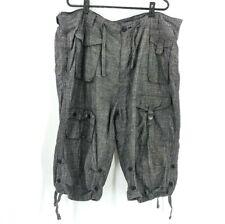 Sean John Men's 40 Waist Gray Long Cargo Knee Length Pocket Shorts Bermuda
