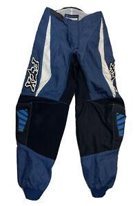 Vintage Fox Racing 180 Motocross Race Pants Blue Black Mens Size 30