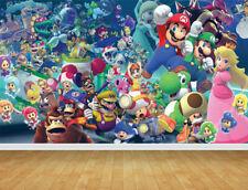 Super Mario Bros Wall Art Wall Mural Self Adhesive Vinyl Wallpaper V10*