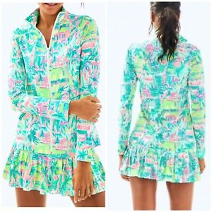 Medium NWT LILLY PULITZER MULTI PERFECT MATCH UPF 50+ LUXLETIC HADLE JACKET Only