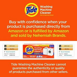 Tide Washing Machine Cleaner Packs -12 Count _ 1 Pack Per Month For Best Results