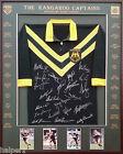 Blazed In Glory - Australian Kangaroo Captains - NRL Signed and Framed Jersey