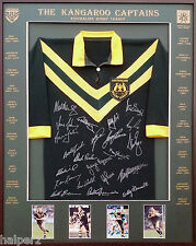 Blazed In Glory - Australian Kangaroo Captains - NRL Signed and Framed Jersey