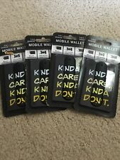 Kinda Care. Mobile Wallet 3-in-1 Cell Phone Stand Cord Wrapper 3M Adhesive