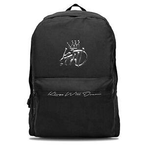 KINGS WILL DREAM KWD Plovar School Bag 3D Logo Backpack - Black/Silver