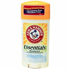 NEW Arm & Hammer Essentials Natural Deodorant Unscented 2.50 Ounces (3 Pack)