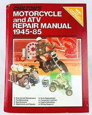 Chilton's 1945-1985 Motorcycle & Atv Repair Manual No. 7635 Hardcover Book Edit