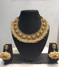 Jewelry Necklace Set Bollywood Cz Indian Gold Plated Cz Kundan Fashion