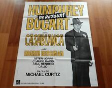 "ORIGINAL MOVIE POSTER ""CASABLANCA"" 1942 FRENCH ONE PANEL 1970 RE-ISSUE BOGART"