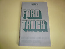 1975 Ford Truck 800 900 8000 9000 Series Operator's Manual Vintage - Glove Box