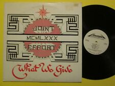 Joint Effort What We Give 1980 Moog Synth EX LP