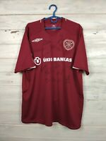 Heart Of Midlothian Jersey Home Autograph L Shirt Umbro Football Soccer