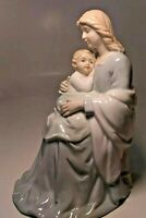 """Beautiful Homco Mother Holding Baby Ceramic/Porcelain  Figurine 7.25""""T  5""""W 1960"""