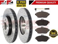 FOR MERCEDES A-CLASS W176 2012- FRONT DRILLED BRAKE DISCS PADS AMG SPORT