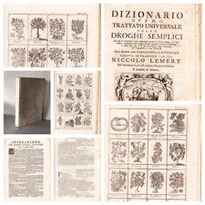 Libro Antico Erboristeria Trattato Universale Delle Droghe Semplici Illustrato