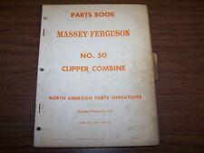ORIGINAL MF 50 CLIPPER COMBINE MASSEY FERGUSON FACTORY PARTS BOOK MANUAL CATALOG