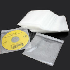 100 pcs Durable CD DVD DISC Storage Case Bag Cover Plastic Sleeve Holder Pack